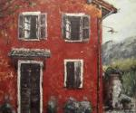 """Canvas 4, """"Umbrian Red"""""""