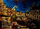 """Canvas 9, """"Nightfall in Verona"""""""