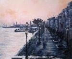"""Canvas 15, """"Rainy Afternoon in Venice"""""""